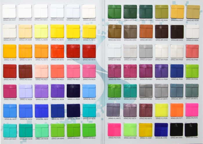 Order according to the color catalog